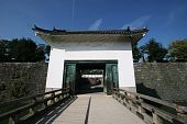 an ancient castle gate in Japan