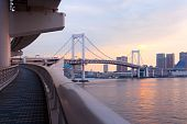 image of kanto  - Footpath on Rainbow Bridge Odaiba Tokyo Kanto Region Honshu Japan - JPG