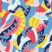 psychedelic seamless geometric pattern