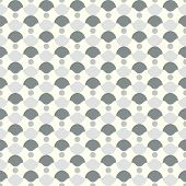 Gray Abstract Circle And Curve Cup Pattern In Retro Style