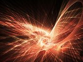 Abstract digital explosion background