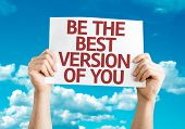 Be the Best Version of You card with sky background