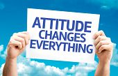 Attitude Changes Everything card with sky background