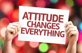 Attitude Changes Everything card with colorful background with defocused lights