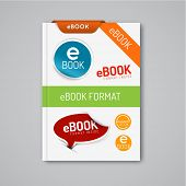 Vector ebook markers - stickers, stamps, corners, labels, ribbons
