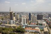 NAIROBI, KENYA-SEPTEMBER 14, 2014: An aerial view of downtown Nairobi, Kenya