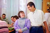 pic of health center  - happy people with disability in rehabilitation center - JPG
