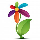 Vector illustration of a flower on a white background.