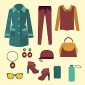 Vector Vector Fashion Clothes And Accessories For Women For Design
