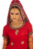 Portrait of an Asian Bridal beauty