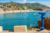 Tourist Telescope. Tossa De Mar. Spain