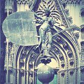 Weathervane (Giraldillo) - symbol of Sevilla city, Spain. Retro style filtred image