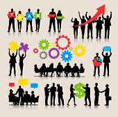 stock photo of growth  - Business People Team Growth Success Corporate Vector Concept - JPG