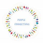 People communication background - frame