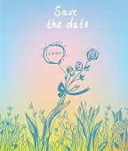 Save the date - wedding graphic invitation