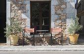 foto of greek-architecture  - Typical greek restaurant - JPG