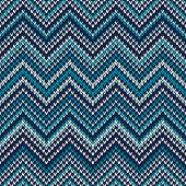 Zigzag Knitted Pattern. Seamless Background
