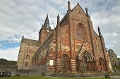 Scottish Church In Kirkwall, Orkney. St Magnus. Scotland. Uk