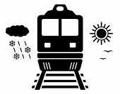 Travel On Train Isolated Symbol