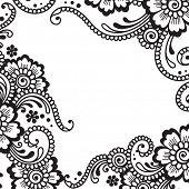 White flower corner, lace ornament