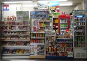 Various Stuffs Are Being Sold In A Shop In Shirahama Station, Japan