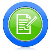 subscribe icon write sign