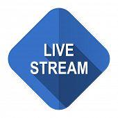 live stream flat icon