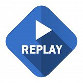 replay flat icon