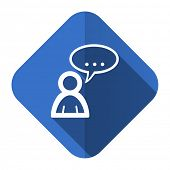 forum flat icon chat symbol bubble sign