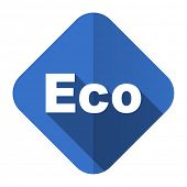 eco flat icon ecological sign