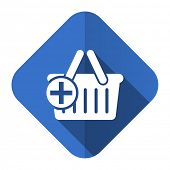cart flat icon shopping cart symbol