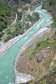 Marsyangdi River, Tibet.