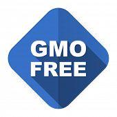 gmo free flat icon no gmo sign