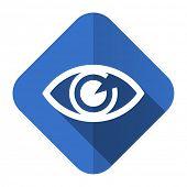 eye flat icon view sign