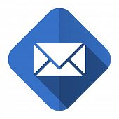 email flat icon post sign