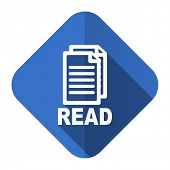 read flat icon