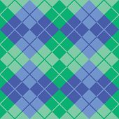 Argyle Design in Green and Blue