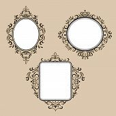 Collection of frames in retro style