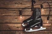 Old Black Figure Ice Skates