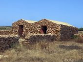 Ancient Peasant Houses Made Of Stone In Sicily Italy