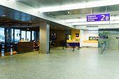 HELSINKI - SEP 21: Helsinki Airport interior on September 21, 2014 in Helsinki, Finland. Helsinki Airport is the main international airport of the Helsinki metropolitan region and the whole of Finland