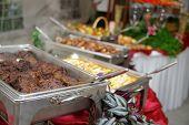 buffet line