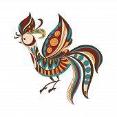 Bright Decorative Bird. Vector Illustration