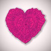 Hand drawn heart, vector eps10 illustration