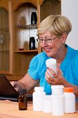woman buying medication online