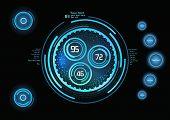 Futuristic Blue Infographics