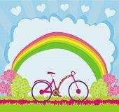 I Love My Bike , Abstract Card