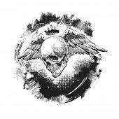 design elements for halloween. element for halloween. hand drawn. vector illustration