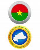 Button As A Symbol Burkina Faso