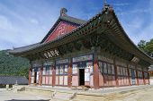 Beautiful Haeinsa temple exterior, South Korea.